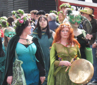 May Day revellers in Hastings, Sussex