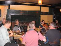 Pub session at the George Inn, Southwark, London